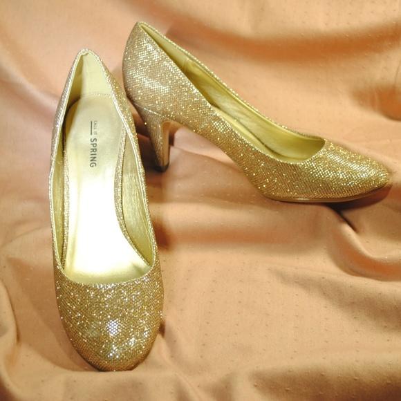 a98c9526f9b37 Call It Spring Shoes - Call It Spring Gold Glitter Pumps US 9/EU 40